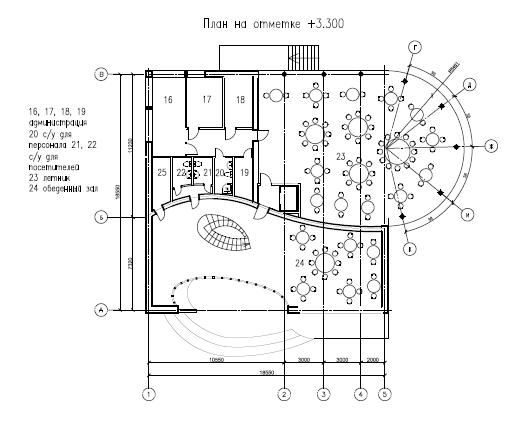 План первого этажа с